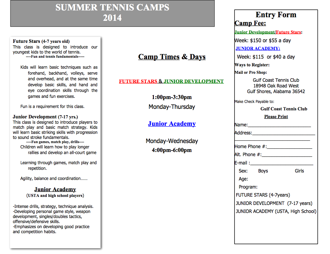 Summer Camps Flyer 7