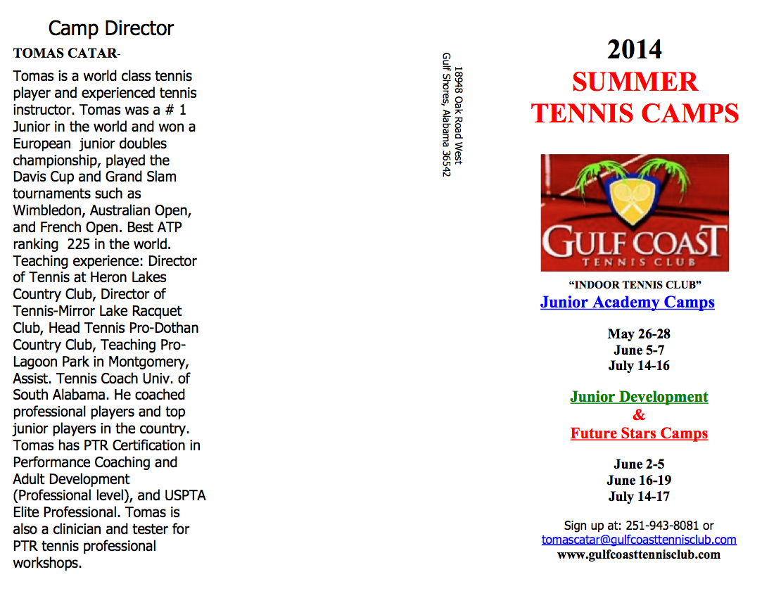 Summer Camps Flyer7